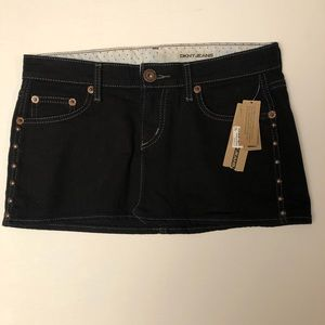 DKNY Jeans Black Mini Skirt NWT. Size 5